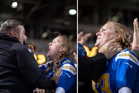 video steelers fan chokes pregnant chargers fan  heinz