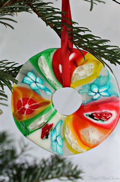 Melted Candy Christmas Ornament Craft