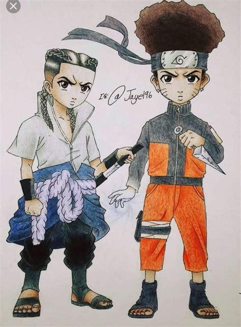 Boondocks Naruto And Sasuke Pop Art Pinterest Sasuke