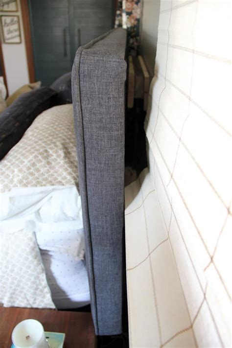 how to mount a door as a headboard how to mount a headboard with space for curtains bright green door