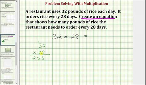 write a multiplication equation from a word problem common core 3 4 math ex 15 youtube