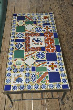mexican tile coffee table pallet day beds timber table and mexican tiles on pinterest