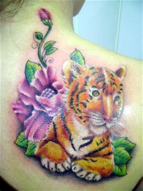 tiger  flower tattoos tattoo  itattooz