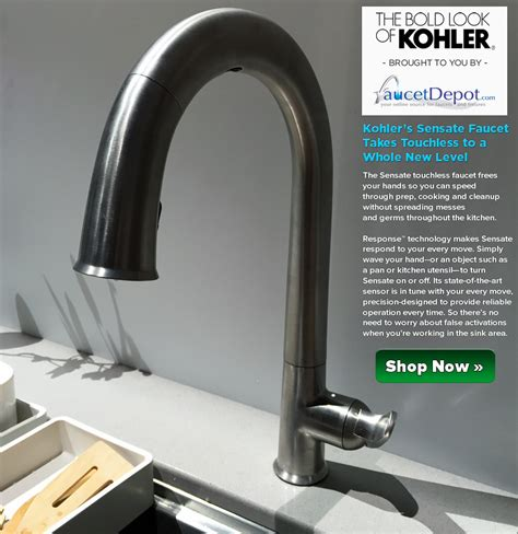 how to repair a kitchen faucet kohler sensate faucets taking touchless to a whole level