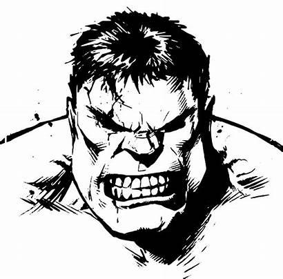 Hulk Clipart Transparent Vector Superhero Incredible Drawing