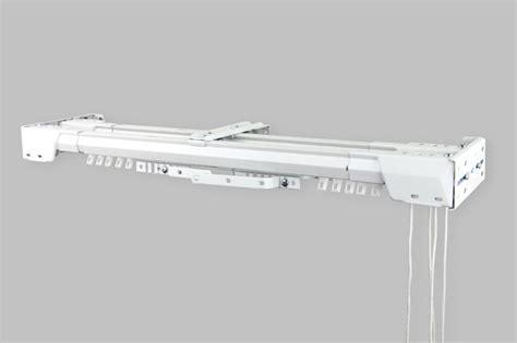 white heavy duty traverse rod center open