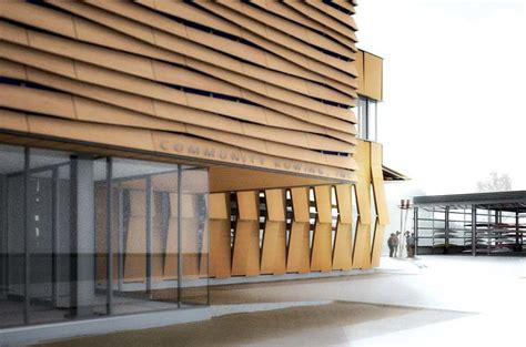 site   distinct buildings  wood louvered