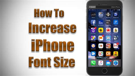 iphone font how to increase font size on iphone