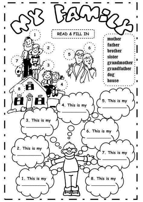 las  mejores imagenes de family actividades de ingles