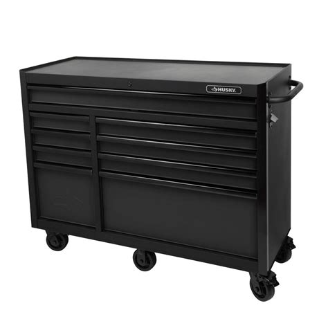 home depot tool cabinet husky 52 in 9 drawer tool cabinet textured black h52tr9