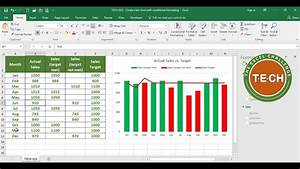 Excel Charts And Graphs Tech 013 Create A Bar Chart With Conditional Formatting
