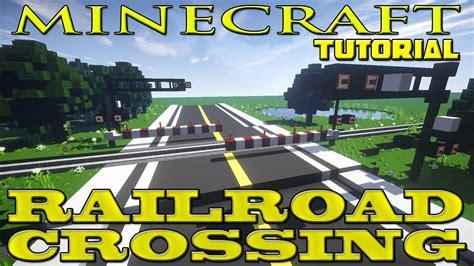 Minecraft Railroad Crossing Tutorial