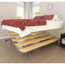 modern bedroom furniture queen platform metal floating bed