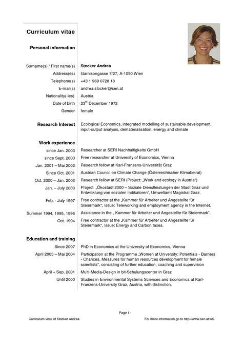 modelo de curriculum vitae pdf modelo de curriculum