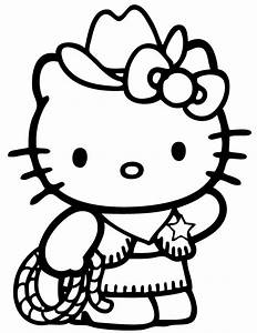 Hello Kitty Country Cowboy Coloring Page | H & M Coloring ...