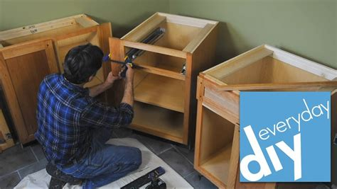 diy install kitchen cabinets how to install kitchen cabinets buildipedia diy youtube