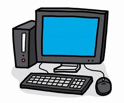 Computer Cartoon Monitor Cpu Clip Desktop Cartoons