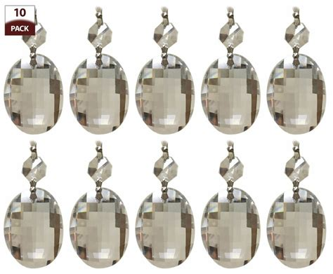 Replacing Chandelier by 10 Pk Chandelier Replacement Prisms Clear Oblate
