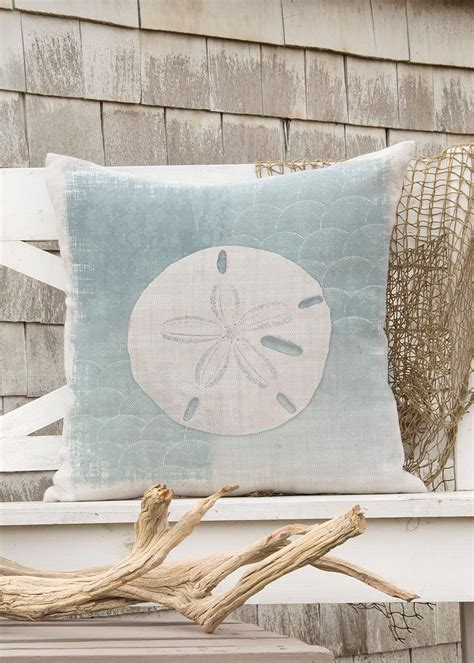 beachcomber sand dollar pillow cover heritage lace