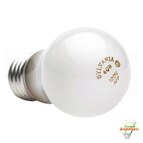sylvania 10119 40a15 120v incandescent frosted appliance