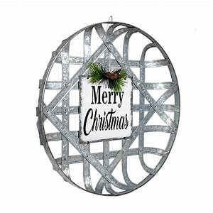 Holiday, Time, Outdoor, Galvanized, Merry, Christmas, Sign, -, Round, -, Walmart, Com