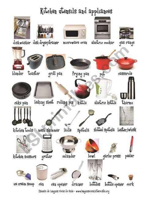 Kitchen Equipment Worksheet Answers by Kitchen Utensils Crossword Activity 1 Answers Besto