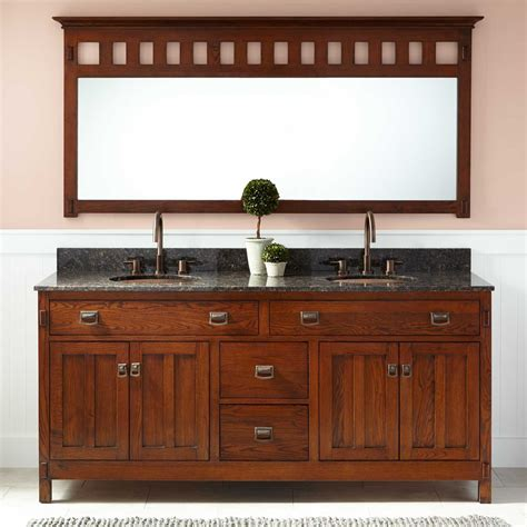 "72"" Harington Oak Double Vanity For Undermount Sinks"