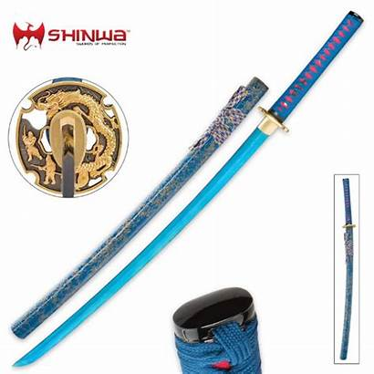 Shinwa Sword Katana Samurai Guard Dragon Hand