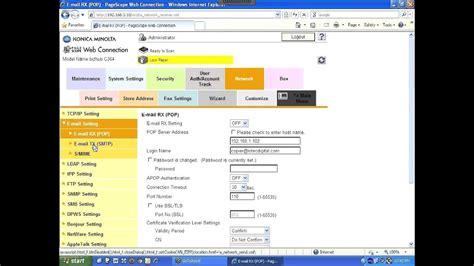 konica scan  email setup youtube