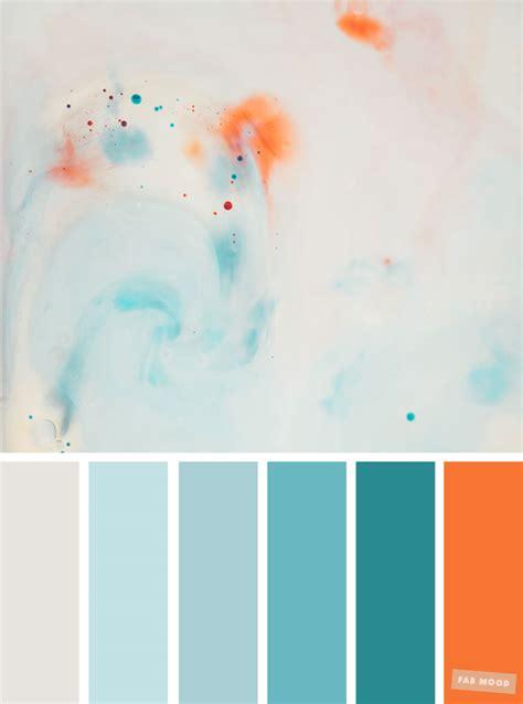 light blue teal  orange colour palette  fab mood