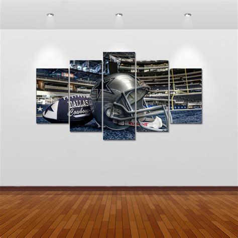 Cheap Dallas Cowboys Home Decor by 5pcs Print Dallas Cowboys Painting Home Decor Canvas