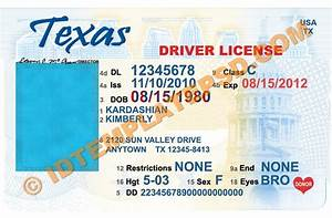 this is texas usa state drivers license psd photoshop With texas temporary drivers license template