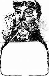 Moustache Frame Victorian Frames Mustache Openclipart Clipart Trame Cornice Svg Blanks 1414 Gratuite sketch template