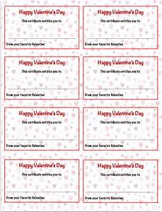 Valentine39s day printables gift certificates the housewife modern for This certificate entitles you to