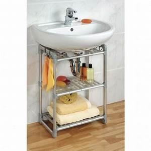 Etagere Sous Lavabo : boite de rangement meuble de salle de bain ~ Teatrodelosmanantiales.com Idées de Décoration