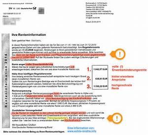 Rente Berechnen Brutto Netto : erkl rung renteninformation lesen und verstehen ~ Themetempest.com Abrechnung