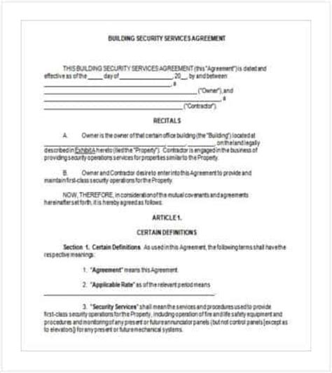 contract templates word docs pages