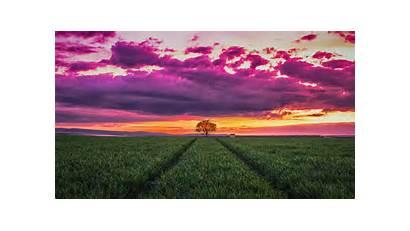 4k Sunset Horizon Landscape Wallpapers Nature