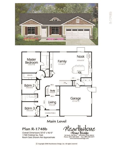 Traditional Rambler Home Plan in 2020 Rectangle house