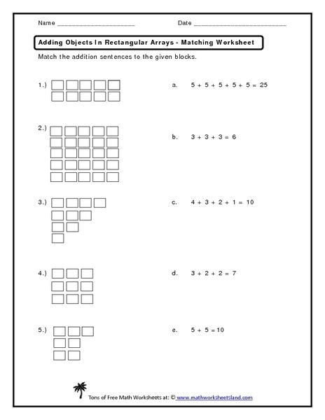 rectangular array worksheets free worksheets library