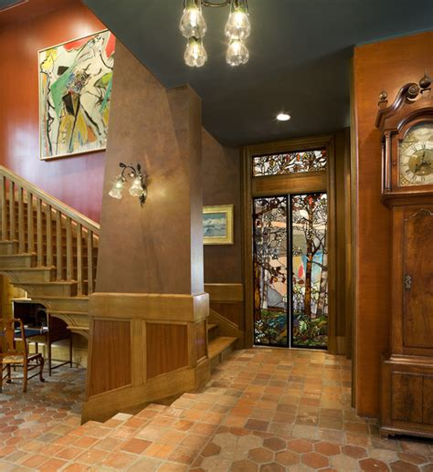 arts crafts residence stair hall traditional staircase philadelphia by archer
