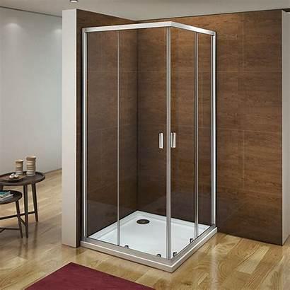 Shower Corner Glass Door Entry Enclosure Sliding