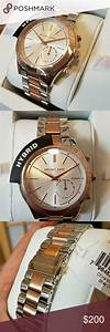 Mk Hybrid Watch Silver And Rose Gold Silver And Rose Gold