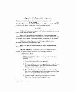 sample independent consulting agreement 6 examples in With sales consultant contract template