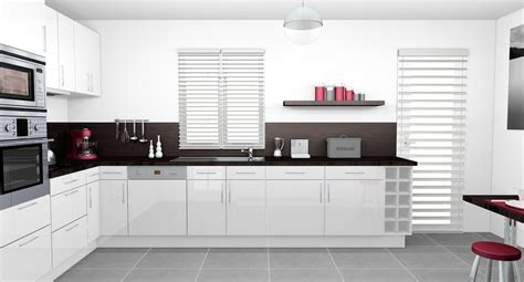 cuisine blanche laquee emejing cuisine blanc laque et gris pictures design