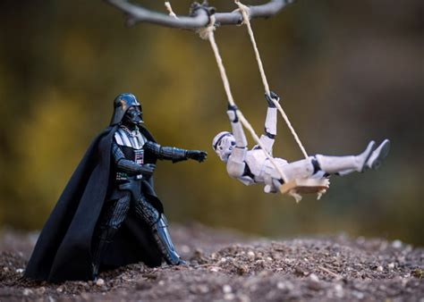 photographer combines toys  practical effects