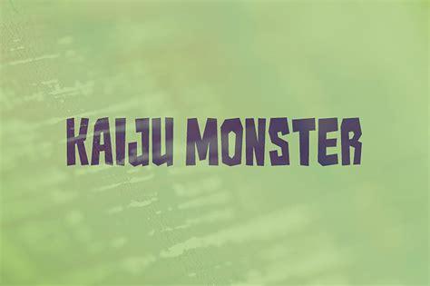kaiju monster font befontscom