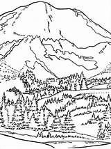 Coloring Mountain Printable Scenery Coloringfolder Adult Blake Range Sheets Nature Cartoon sketch template