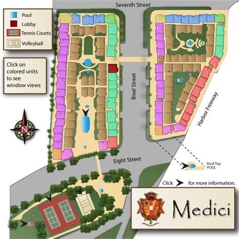 The Medici  Site Map