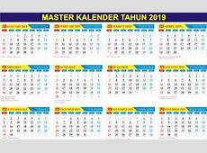 Gratis Download Master Kalender Tahun 2019 PDF dan CDR
